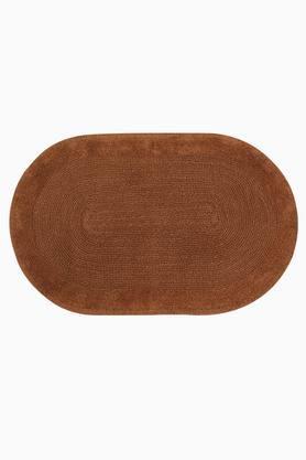 Oval Slub Corded Textured Bath Mat