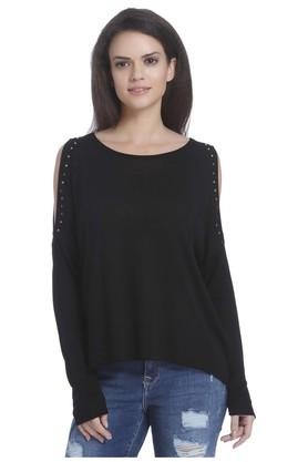 ONLYWomens Round Neck Solid Pullover