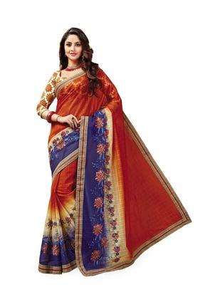 ASHIKAWomens Printed Saree With Blouse Piece - 204577026_7086