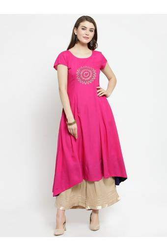 VARANGA -  Fuchsia Salwar & Churidar Suits - Main