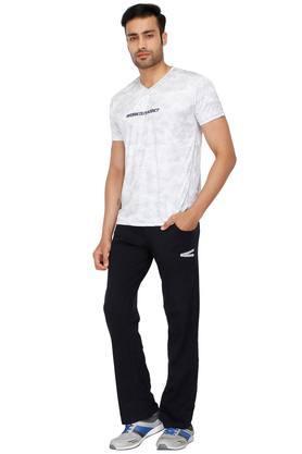 Mens V-Neck Textured T-Shirt