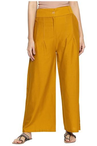 Womens 2 Pocket Solid Palazzos