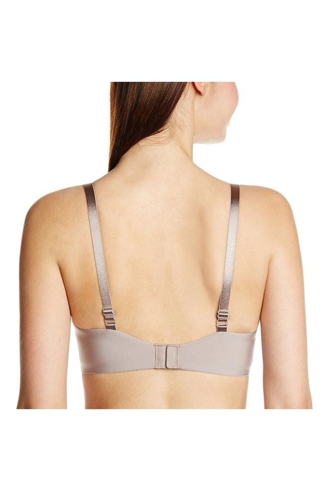 Womens Solid Wired Padded T-Shirt Bra