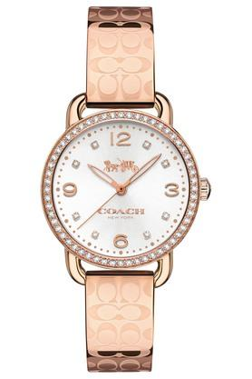 COACHWomens Analogue Gold Plated Stainless Steel With Crystal Watch - 14502767