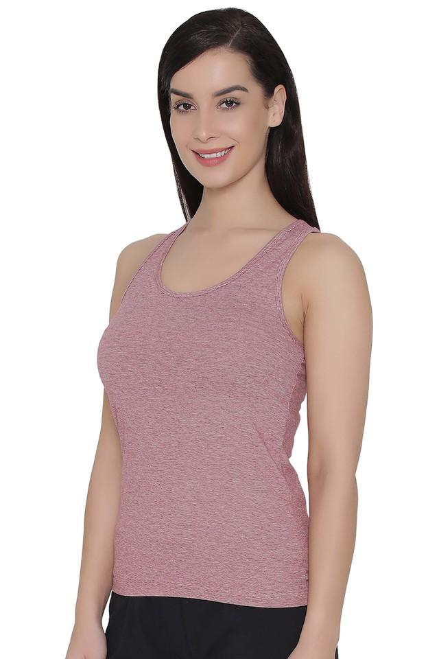 64b8f3bfbc1 Buy CLOVIA Womens Scoop Neck Slub Tank Top