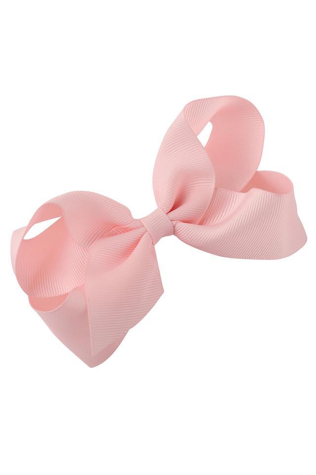 Girls Striped Ribbon Big Bow Hair Clip