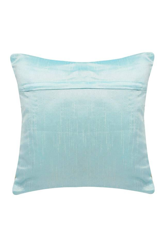 Square Printed Embellished Cushion Cover