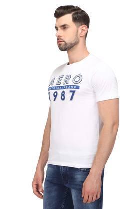 Mens Round Neck Patch Work T-Shirt