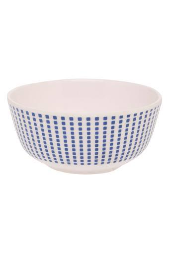 Round Geometric Printed Drizzle Bowl