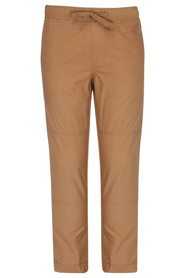 Boys 4 Pocket Solid Trousers