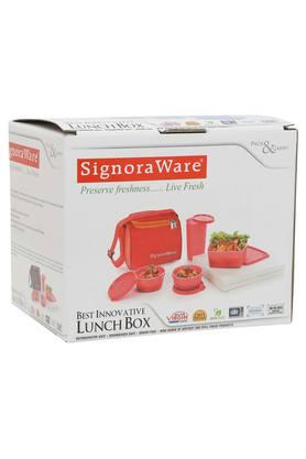 SIGNORAWAREBest Innovative Lunch Box With Solid Bag - Set Of 4