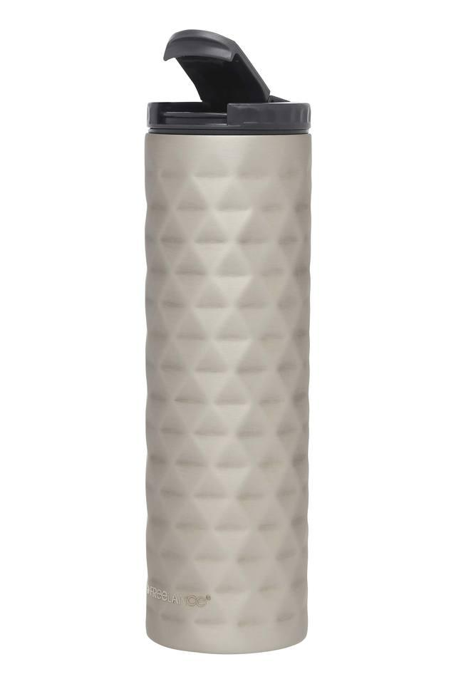 Round Solid Textured Vacuum Bottle with Flip Cap