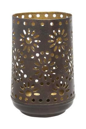 IVYCylindrical Metallic Jharoka Votive - 204700672_9218
