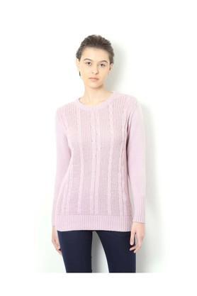 VAN HEUSENWomens Round Neck Slub Sweater