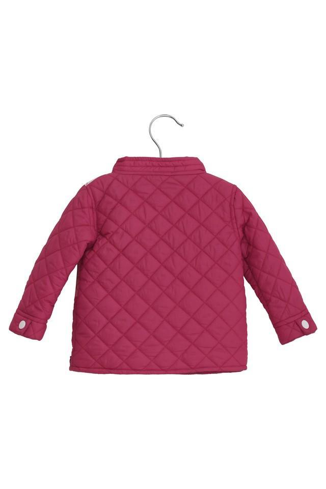 Kids High Neck Solid Jacket