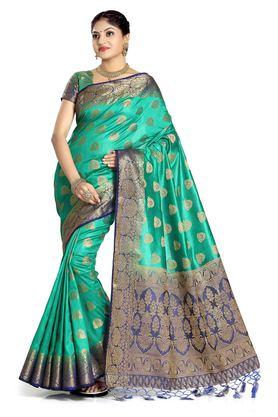 DEMARCA Womens Art Silk Tussar Designer Saree