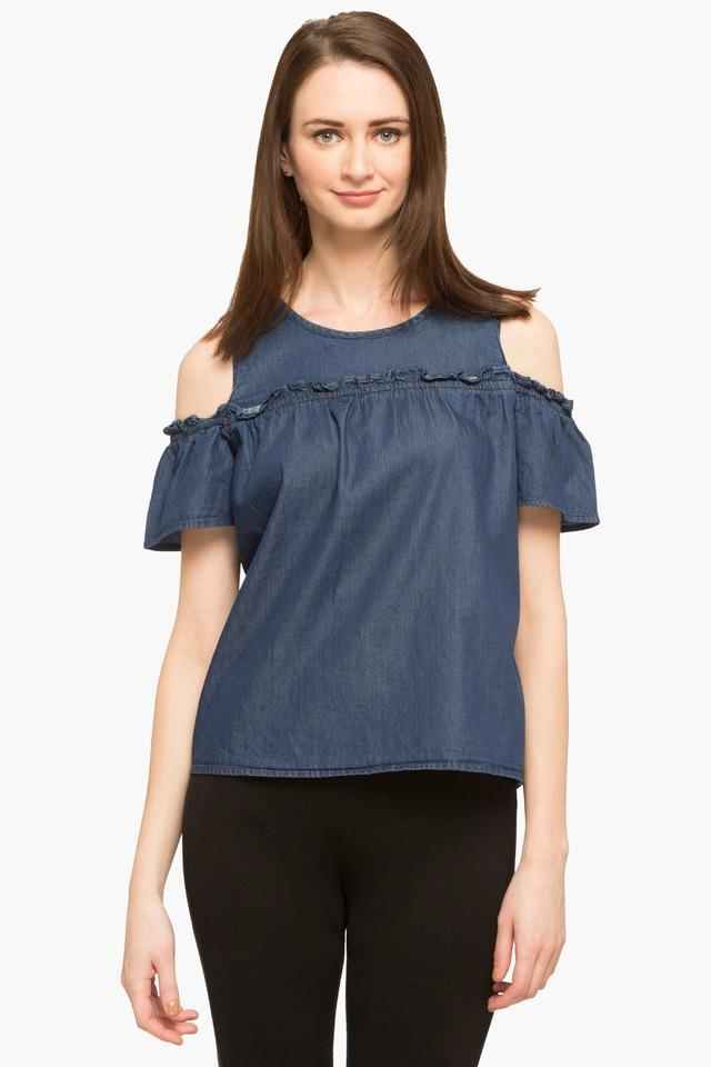 Womens Round Neck Assorted Top