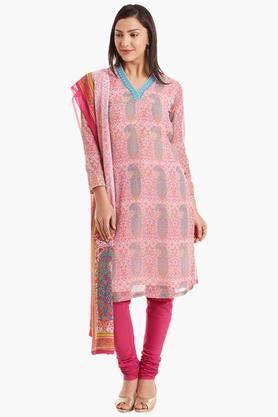 BIBA Womens Poly Cotton Straight Suit Set - 202179822_9557