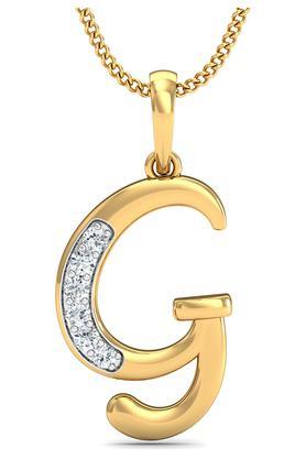 P.N.GADGIL JEWELLERSWomens The 'G' Diamond Pendant DJPD-75