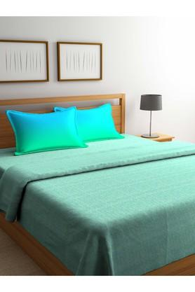 PORTICOPrinted Double Duvet Cover With Bed Sheet And Pillow Cover Combo