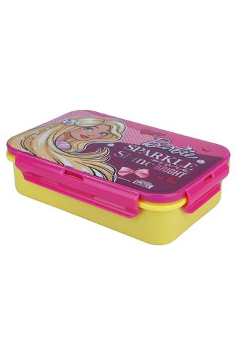Girls Barbie Sparkle Lunch Box with Cutlery