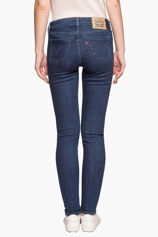 Womens 4 Pocket Solid Jeans