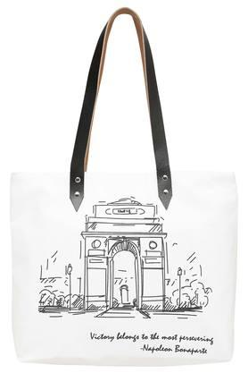 Square India Gate Printed Canvas Shopping Bag