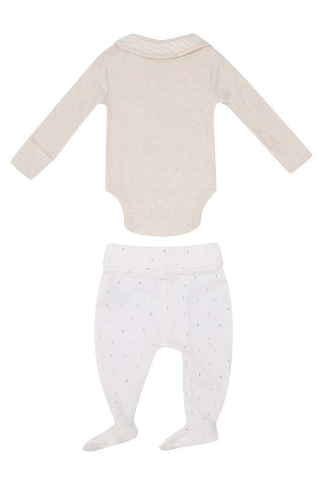Unisex Round Neck Solid Top Pants and Bib Set