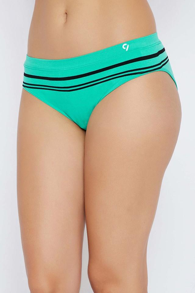 Womens Mid Waist Striped Hipster Briefs - Pack Of 3