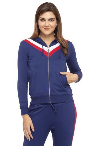 Womens Hooded Solid Sweatshirt