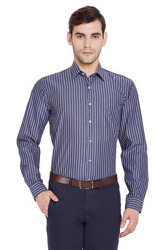 Mens Slim Fit Striped Formal Shirt