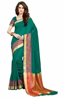 ASHIKA Designer Cotton Silk Saree With Blouse Piece
