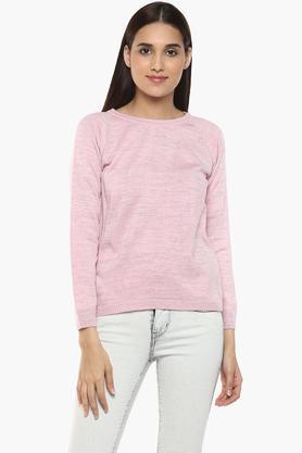 RS BY ROCKY STARWomens Round Neck Slub Sweater
