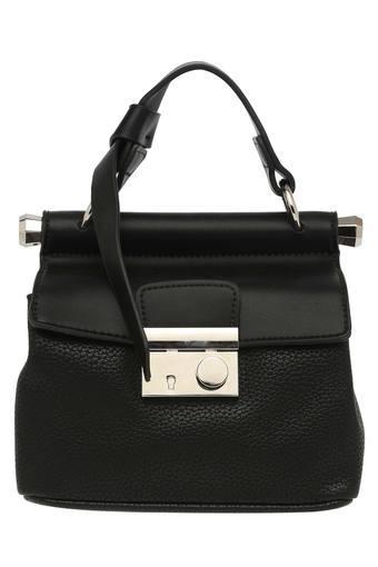 Womens Hook and Loop Closure Satchel Handbag