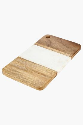 Rectangular Wooden Finish Frost Chip and Dip Server