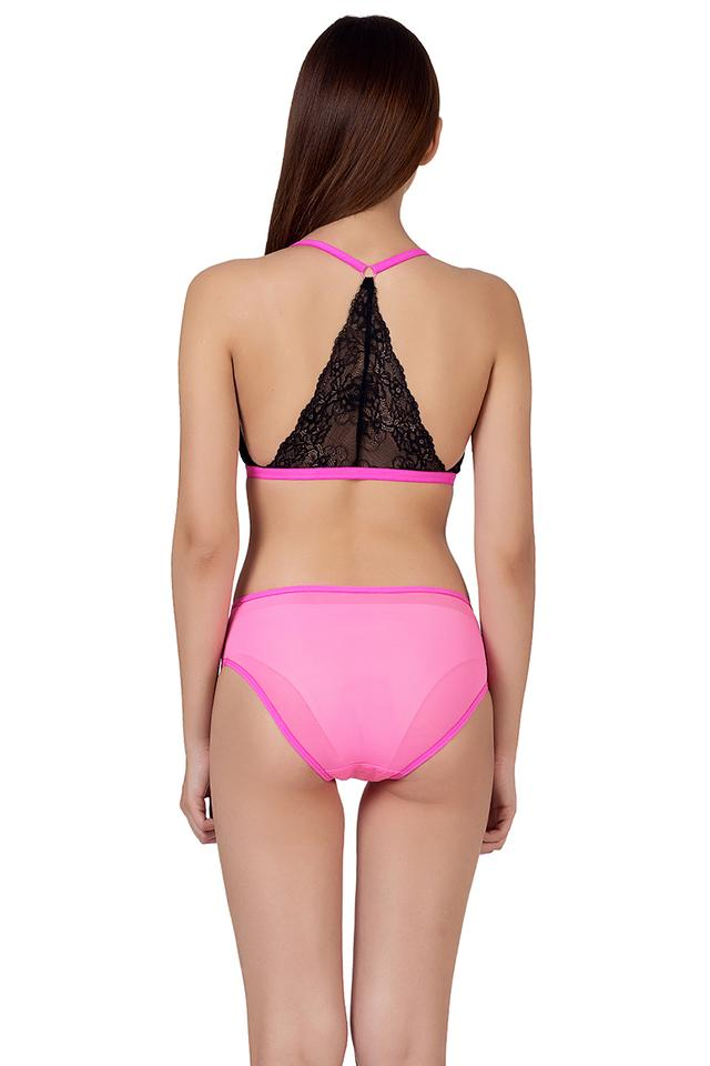 Womens Plunge Bra and Bikini Set