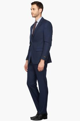 Mens Notched Lapel Solid Suit