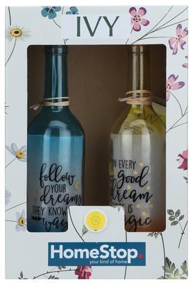 Decor Bottle Light Dreams Quote - Set of 2
