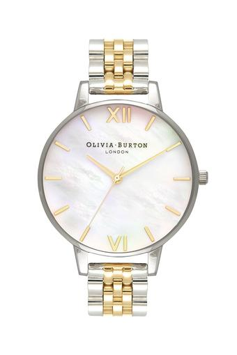 Womens Mother of Pearl Dial Stainless Steel Analogue Watch - OB16MOP05W