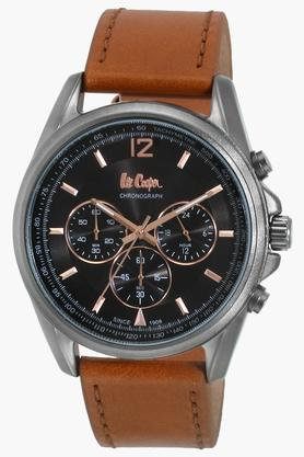 LEE COOPER Mens Leather Chronograph Watch - LC06415055