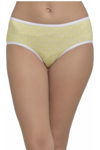 Womens Mid Waist Dot Pattern Hipster Briefs