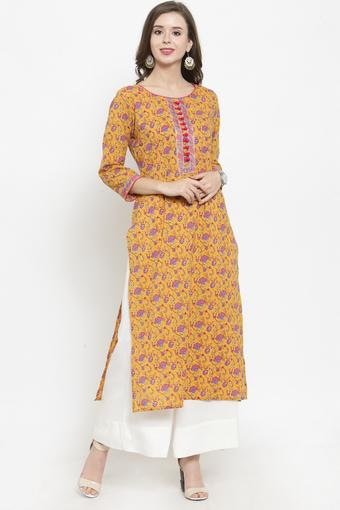 VARANGA -  Mustard Salwar & Churidar Suits - Main