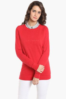 VERO MODA Womens Round Neck Printed Sweatshirt - 202988406