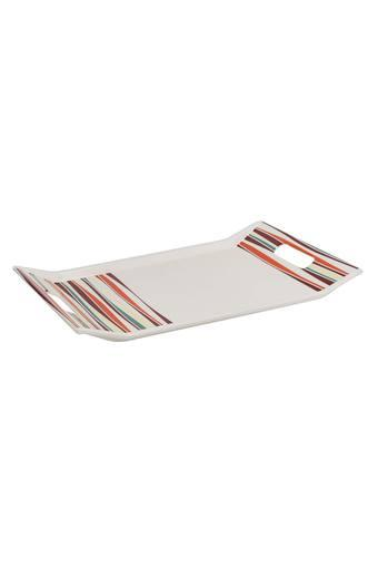 Color of Friends Rectangular Stripe Pattern Serving Tray