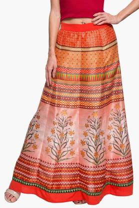 FUSION BEATS Womens Printed Long Skirt