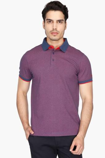 07e86d4a Buy IZOD Mens Slim Fit Printed Polo T-Shirt   Shoppers Stop