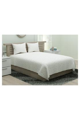 PORTICOPrinted Double Bed Sheet With Pillow Cover