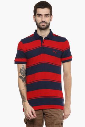 PUMAMens Stripe Polo T-Shirt - 203162260