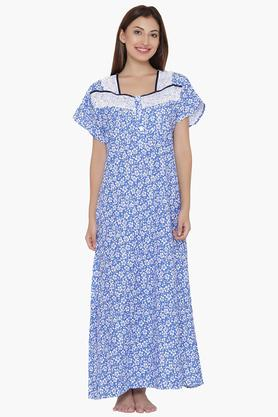 f39165896e X CLOVIA Womens Square Neck Printed Night Gown