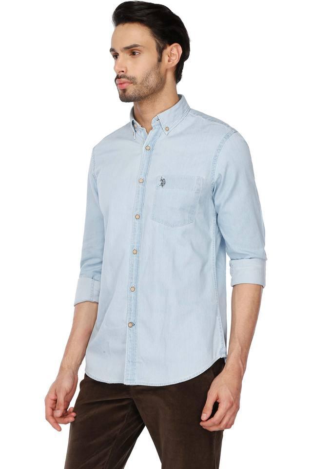 Mens Buttondown Collar Slub Shirt